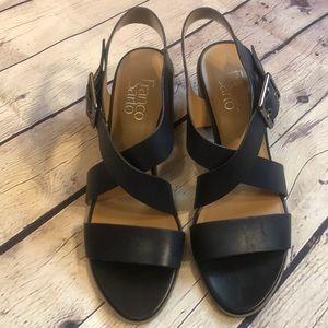 Franco Sarto Helga chunky heeled sandals size 7:5